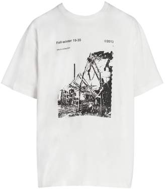 Off-White Off White Ruined Fact Graphic T-Shirt