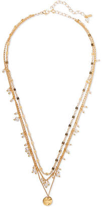Chan Luu Layered Gold-plated Pearl Necklace