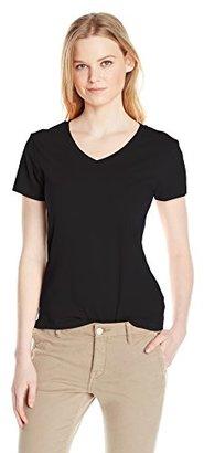 Dockers Women's V-Neck Stretch Short Sleeve Tee $7.28 thestylecure.com