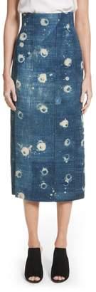 ADAM by Adam Lippes Shibori Chambray Pencil Skirt