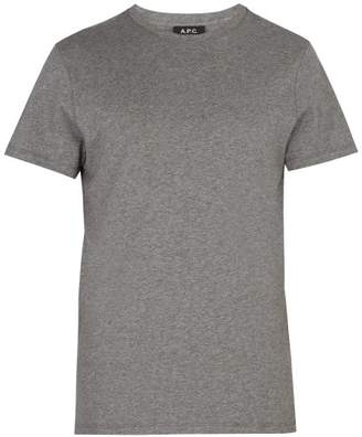 A.P.C. Jimmy Cotton Jersey T Shirt - Mens - Grey