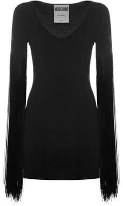 Moschino Tassel Sleeve Mini Dress