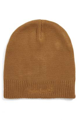 Timberland Embroidered Logo Knit Beanie