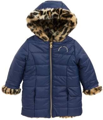 Little Marc Jacobs Reversible Faux Fur Puffer Jacket