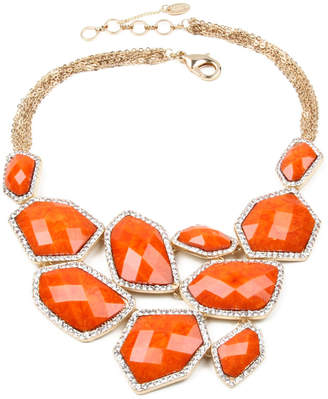 Amrita Singh Easter Island Crystal & Resin Statement Necklace