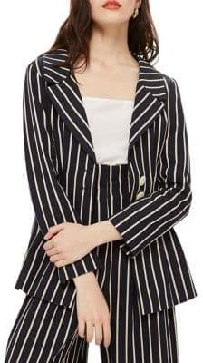 Topshop Stripe Blazer Jacket