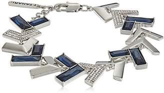 T Tahari Chevron Chic Mnt Cry Link Bracelet