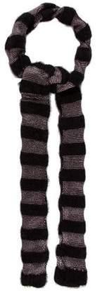 Jean Paul Gaultier Knit Metallic Scarf w/ Tags