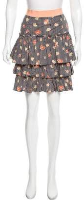 Marc by Marc Jacobs Printed Tiered Mini Skirt