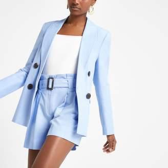 5d57e22e8a River Island Womens Light Blue double breasted blazer