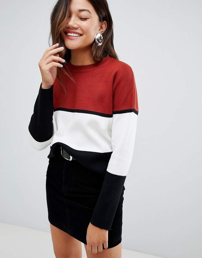 basic jumper in colourblock