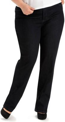 Lee Plus Size Monroe Classic Fit Straight-Leg Jeans