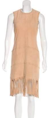 Rachel Zoe Leather Midi Dress