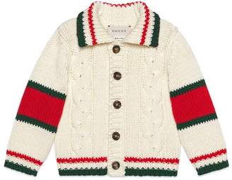 Gucci Baby cable knit cotton cardigan