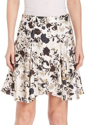 A.L.C. Brien Silk Blend Floral Skirt $365 thestylecure.com
