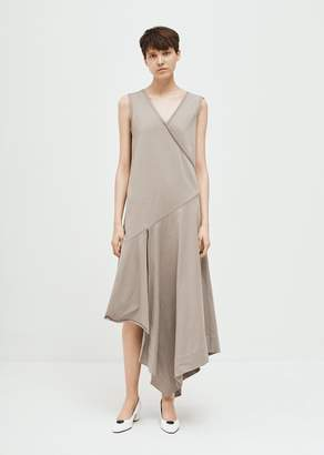 Hache Asymmetrical Sleeveless Dress