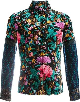 Pierre Louis Mascia Pierre-Louis Mascia floral pattern shirt