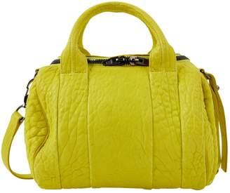 Alexander Wang Rocco Yellow Leather Handbag