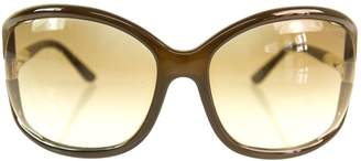 Tom Ford Brown Plastic Sunglasses