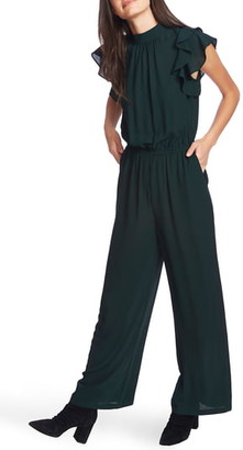 1 STATE 1.STATE Flutter Sleeve Jumpsuit