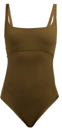 Eres Duni Arnaque Scoop Neck Swimsuit - Womens - Khaki