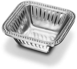 Wilton Armetale Flutes & Pearls Square Dipping Bowl