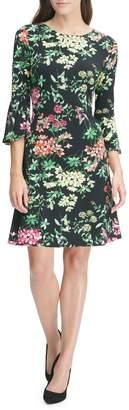 Tommy Hilfiger Bell Sleeve Floral Dress