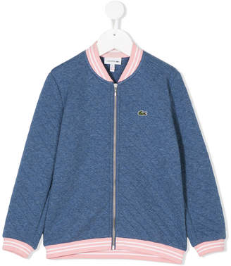 Lacoste Kids quilted bomber jacket