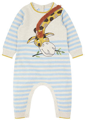 Monsoon Newborn Guy Giraffe Knitted Sleepsuit