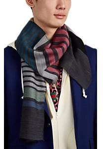 Paul Smith Men's Sock Striped Wool-Blend Voile Scarf