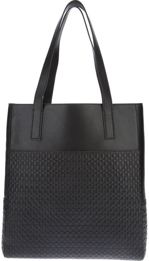 McQ large embossed tote