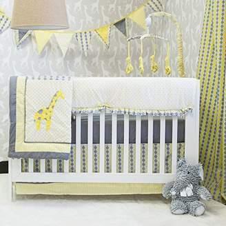 Pam Grace Creations bdnb-argyle Argyle Giraffe 10 Piece Crib Set - yellow, grey