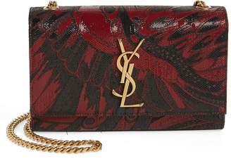 Saint Laurent Small Kate Metallic Floral Crossbody Bag