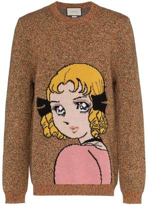Gucci Manga Girl intarsia wool jumper
