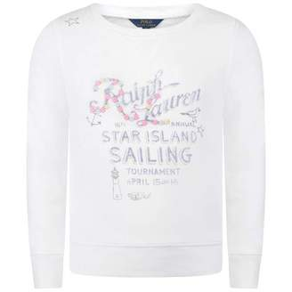 Ralph Lauren Ralph LaurenGirls White Star Island Sailing Sweater