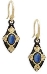 Armenta 18K Yellow Gold, Kyanite & Champagne Diamond Drop Earrings