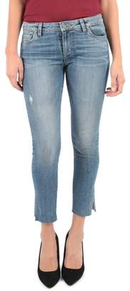 KUT from the Kloth Reese Side Slit Ankle Straight Leg Jeans (Regular & Petite) (Creation)