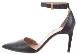 Calvin Klein Collection Pointed-Toe Ankle Strap Pumps