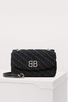 Balenciaga BB denim shoulder bag