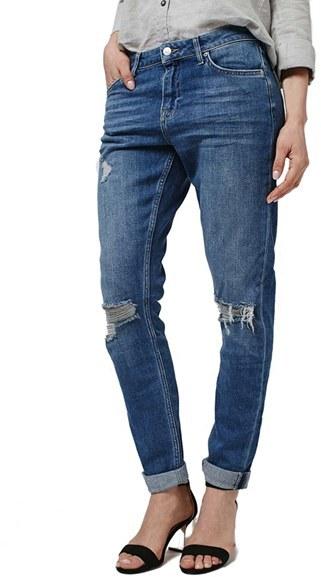 Topshop 'Lucas' Ripped Boyfriend Jeans