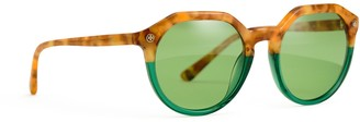 Tory Burch TWO-TONE ACETATE SUNGLASSES