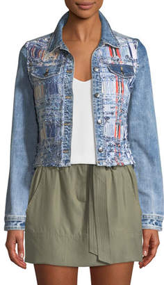Ramy Brook Gloria Boucle/Denim Jacket