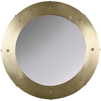 Noir Clay Wall Mirror - Antiqued Brass