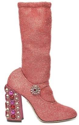 Dolce & Gabbana Embellished Heeled Boots