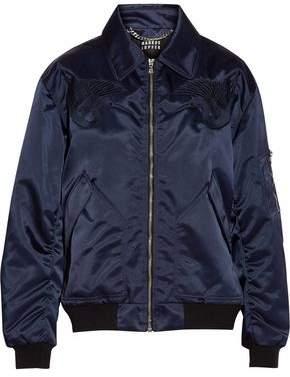 Markus Lupfer Amelia Embroidered Shell Bomber Jacket