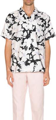 Double Rainbouu DOUBLE RAINBOUU Hawaiian Shirt in Cloud Control White | FWRD