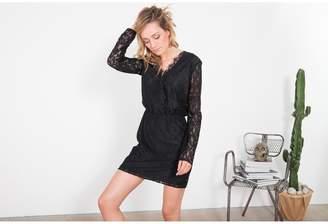 Le Temps Des Cerises Mini Lace Dress