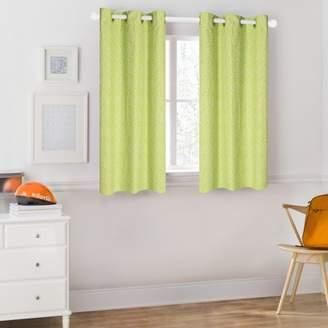 Mainstays Kids Green Polka Dot Room Darkening Coordinating Window Curtain