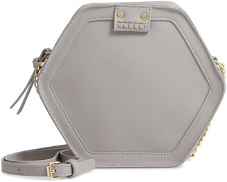 Leith Hexagon Faux Leather Crossbody Bag