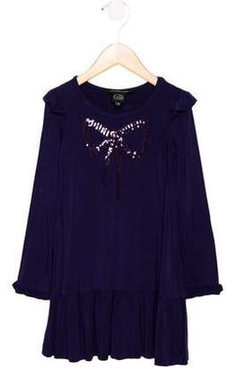 Little Marc Jacobs Girls' Embellished Long Sleeve Dress